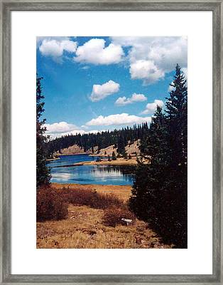 New Mexico Lake Framed Print by Linda Pope