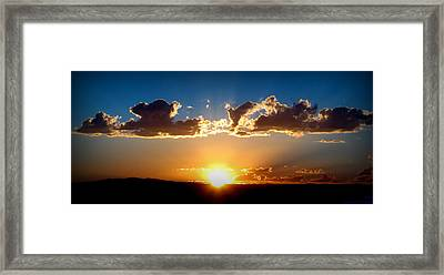 New Mexico Late Summer Skies Framed Print by Aaron Burrows