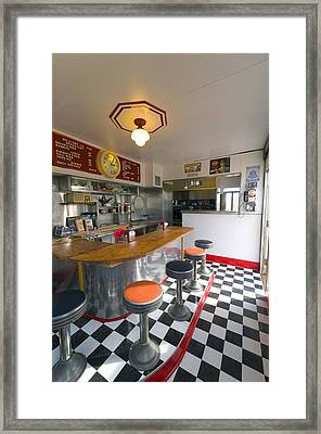 New Mexico, Route 66, Edgewood, Redtop Diner Framed Print by Alan Copson