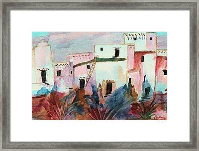 Framed Print featuring the painting New Mexico Sunset by Alethea McKee