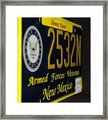 New Mexico Tag Framed Print by Rob Hans