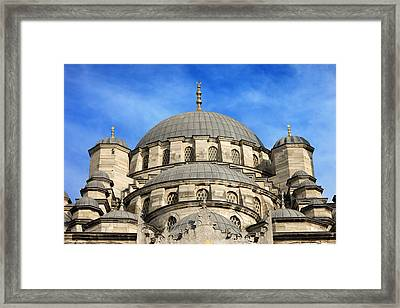 New Mosque Domes In Istanbul Framed Print by Artur Bogacki