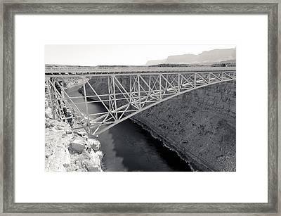 New Navajo Bridge Bw Framed Print by Julie Niemela