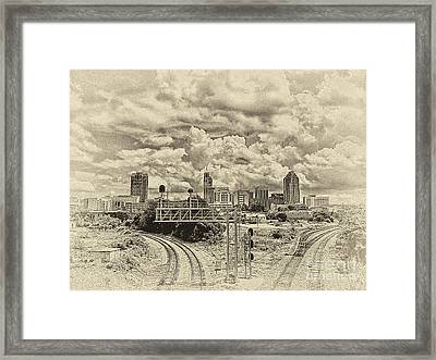 New Old Time Raleigh Nc Framed Print