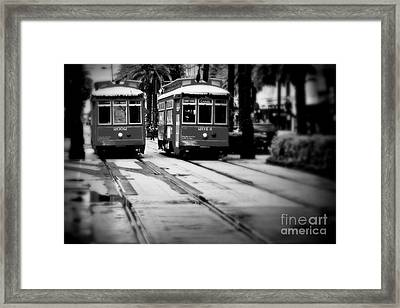 New Orleans Classic Streetcars. Framed Print by Perry Webster