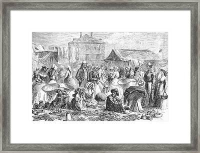 New Orleans: Market, 1866 Framed Print by Granger