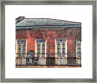 New Orleans Plantation House Framed Print by Merton Allen