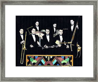 New Orleans Rhythm Kings Framed Print by Mel Thompson
