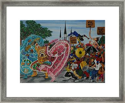 ''new Orleans Secondline'' Framed Print by Mccormick  Arts