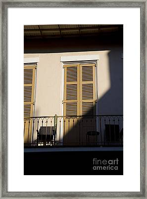 New Orleans Shadows Framed Print by Leslie Leda