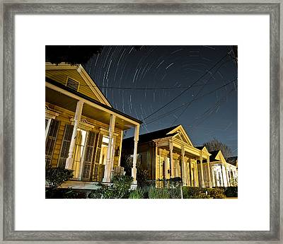 Framed Print featuring the photograph New Orleans Star Trails by Ray Devlin