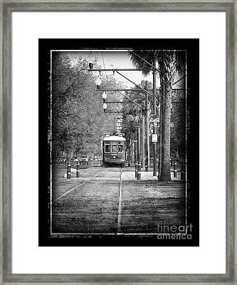 New Orleans Streetcar Framed Print by Jeanne  Woods