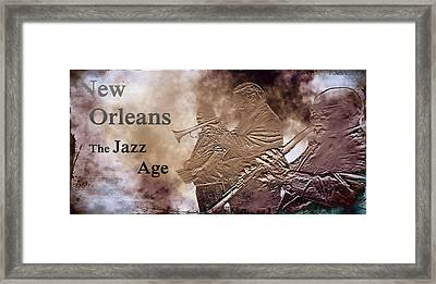 New Orleans The Jazz Age Framed Print by Bill Cannon