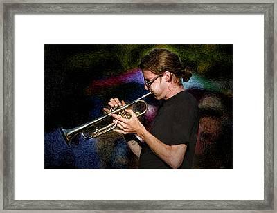 New Orleans Trumpeter Framed Print