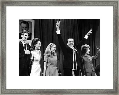 New President-elect Richard Nixon Framed Print by Everett
