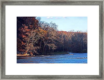 New River At Foster Falls Framed Print by Denise Romano