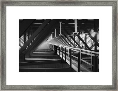New River Gorge Bridge Catwalk Framed Print by Teresa Mucha