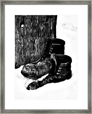 New Shoe Drop Off Framed Print by Jerry Cordeiro
