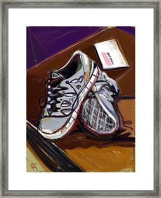 New Sneaks Framed Print by Russell Pierce