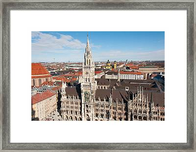 Framed Print featuring the photograph New Town Hall by Andrew  Michael