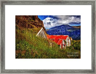 New Turf Farm Look Framed Print by Rick Bragan