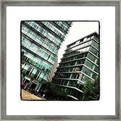New Working #berlin #windows Framed Print