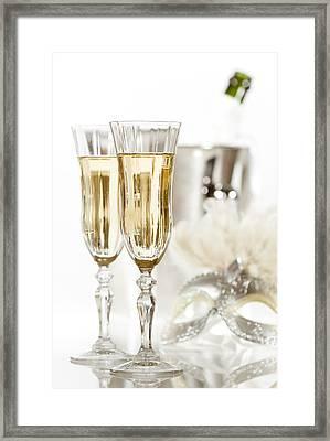 New Year Champagne Framed Print by Amanda Elwell