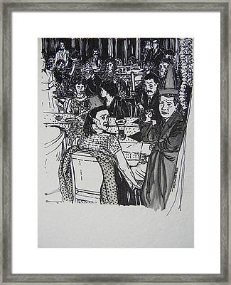 New Year's Eve 1950's Framed Print by Marwan George Khoury