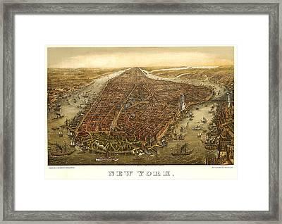 New York 1873 Framed Print by Donna Leach