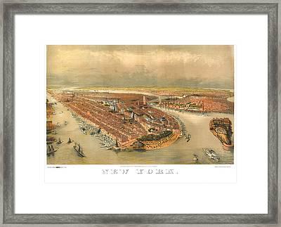 New York 1874 Framed Print by Donna Leach