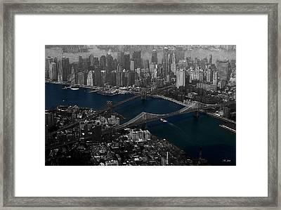 New York Aerial Framed Print by Ms Judi