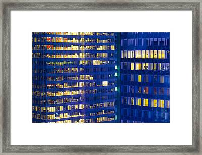 New York, Buildings By Times Square Framed Print by Alan Copson