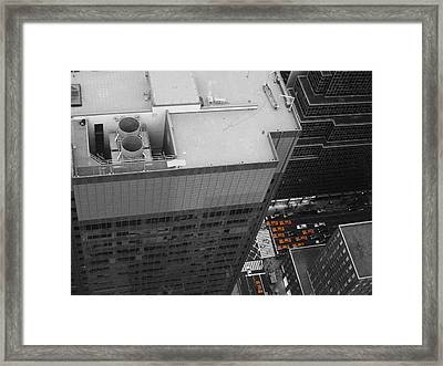 New York Cabs Framed Print by Naxart Studio