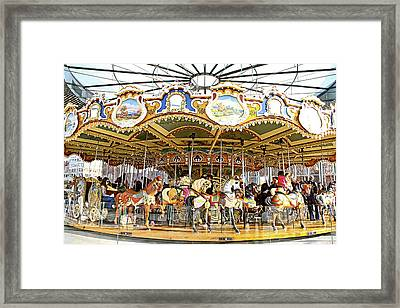 Framed Print featuring the photograph New York Carousel by Alice Gipson