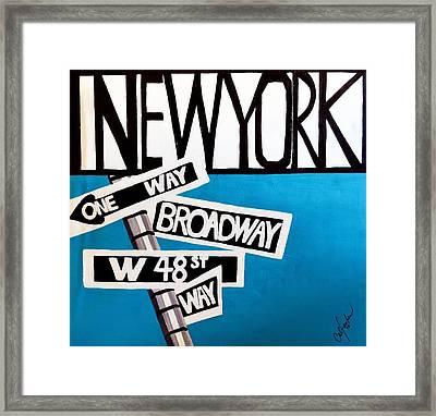 New York Framed Print by Cat Jackson