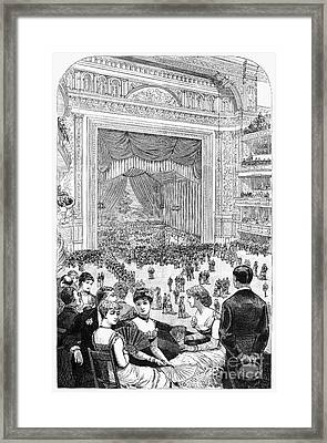 New York Charity Ball, 1884 Framed Print by Granger