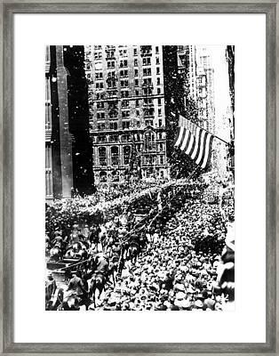 New York Charles A. Lindbergh Received Framed Print
