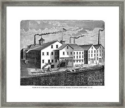 New York: Chemical Works Framed Print by Granger