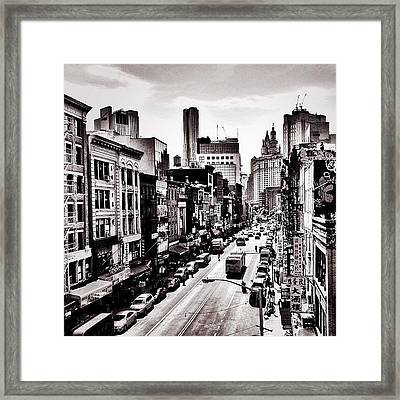New York City - Above Chinatown Framed Print