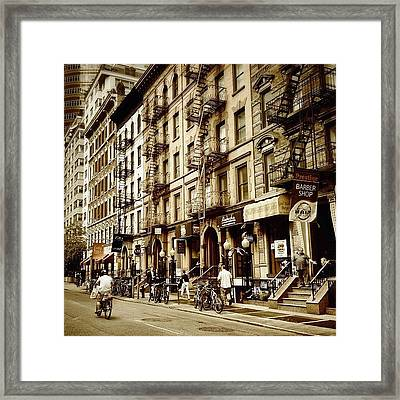 New York City - Back In Time Framed Print by Vivienne Gucwa