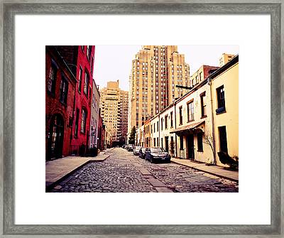 New York City - Greenwich Village Framed Print by Vivienne Gucwa