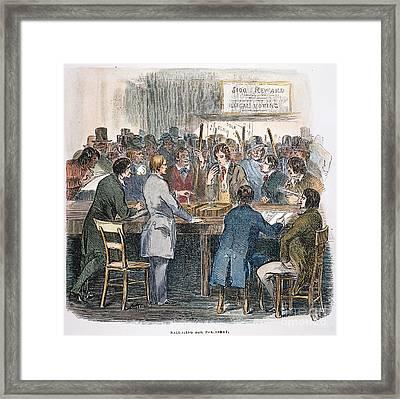 New York City: Ballot, 1844 Framed Print by Granger