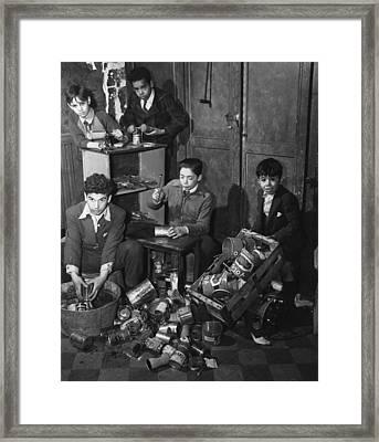 New York City Boys Tin Club. The Boys Framed Print by Everett