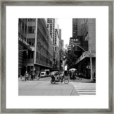 New York City Flow Of Life Framed Print by Vivienne Gucwa