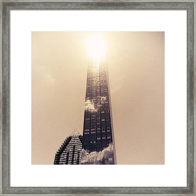 New York City Glimmers And Reflections Framed Print