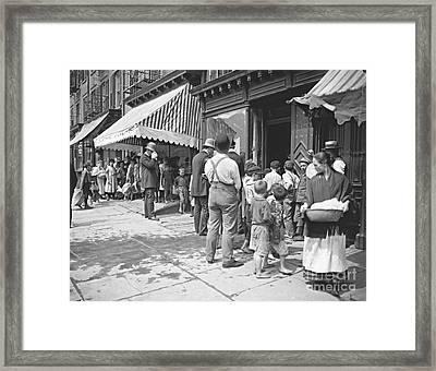 New York City Heat Wave 1900 Framed Print