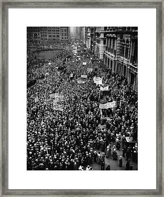 New York City, Hitler Protest Parade Framed Print