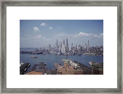 New York City.  Lower Manhattan Framed Print