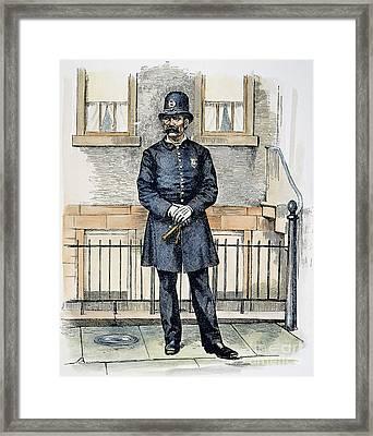 New York City Policeman Framed Print by Granger