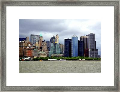 Framed Print featuring the photograph New York City by Pravine Chester